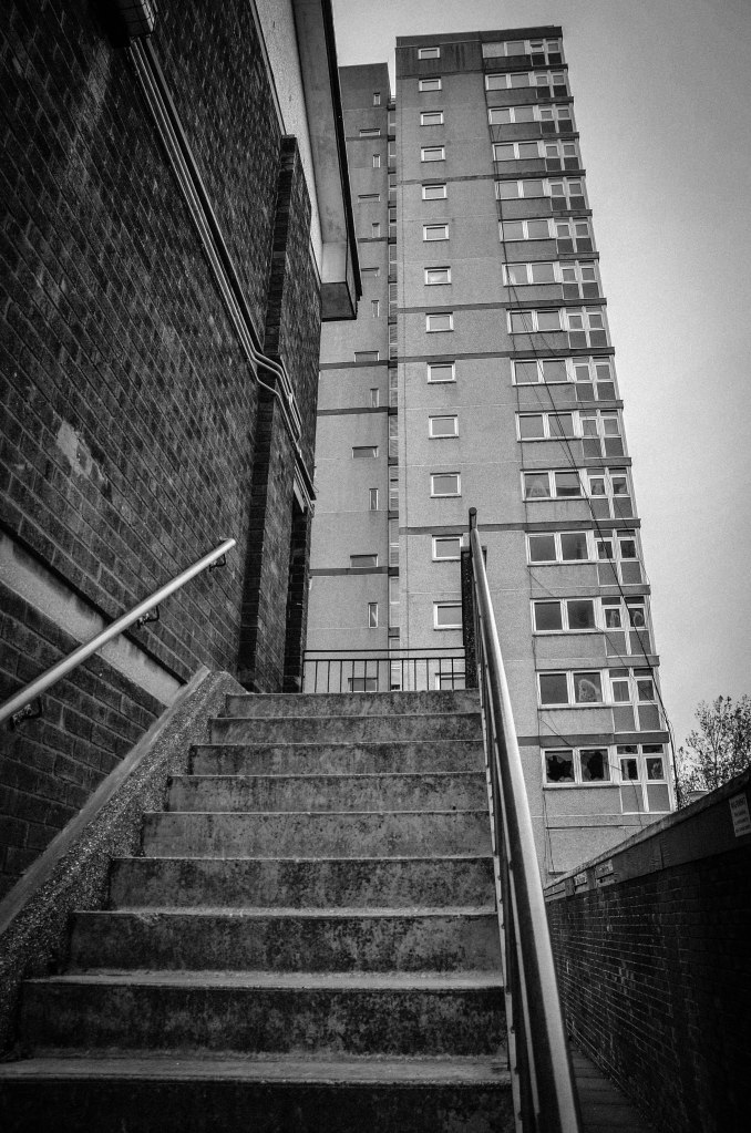 •the 1st multi story tower block was built in Harlow New Town •mid 1950s lower building standards introduced by the Conservative government – a subsidy was given to councils for high rise blocks.